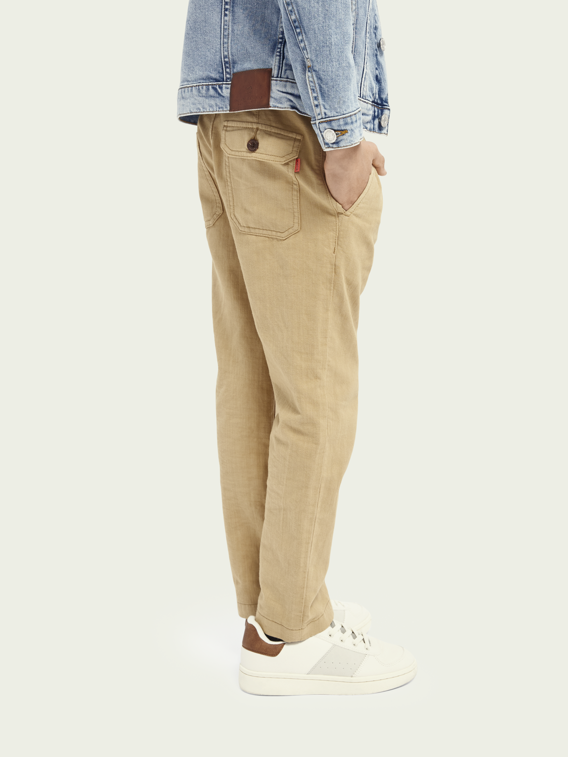 Kids Loose tapered fit worker trousers