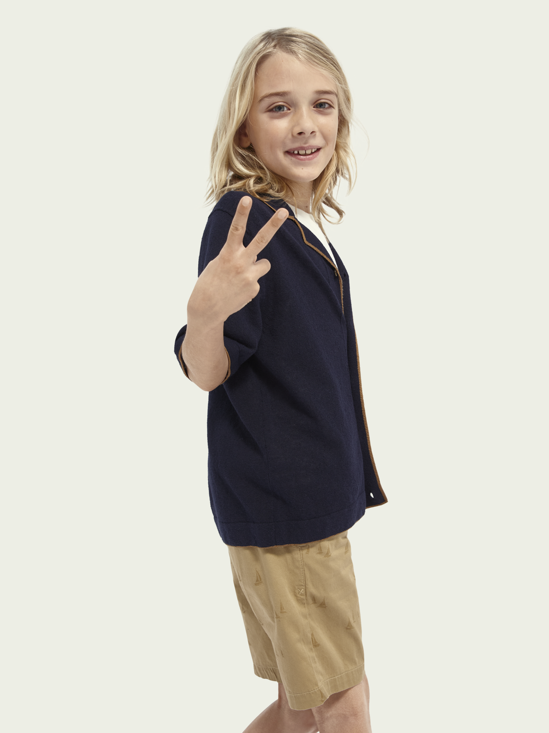 Kids Knitted short-sleeved polo