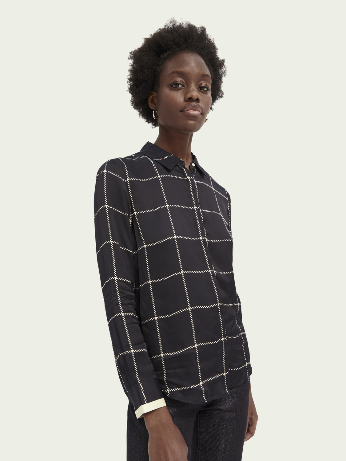 Women LENZING™ ECOVERO™ pattern shirt