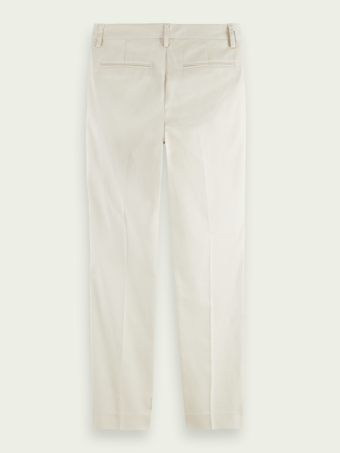 Women Bell slim-fit structured twill chino - Off white