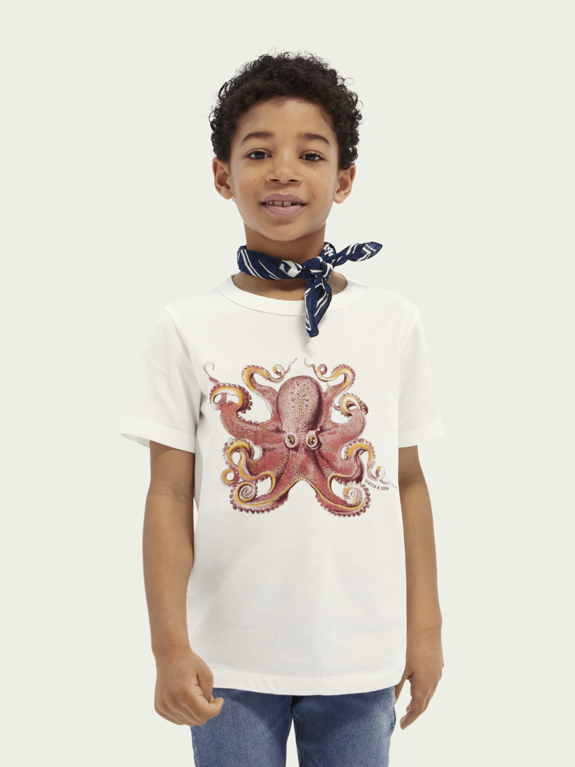 Kids Short-sleeved graphic organic cotton T-shirt