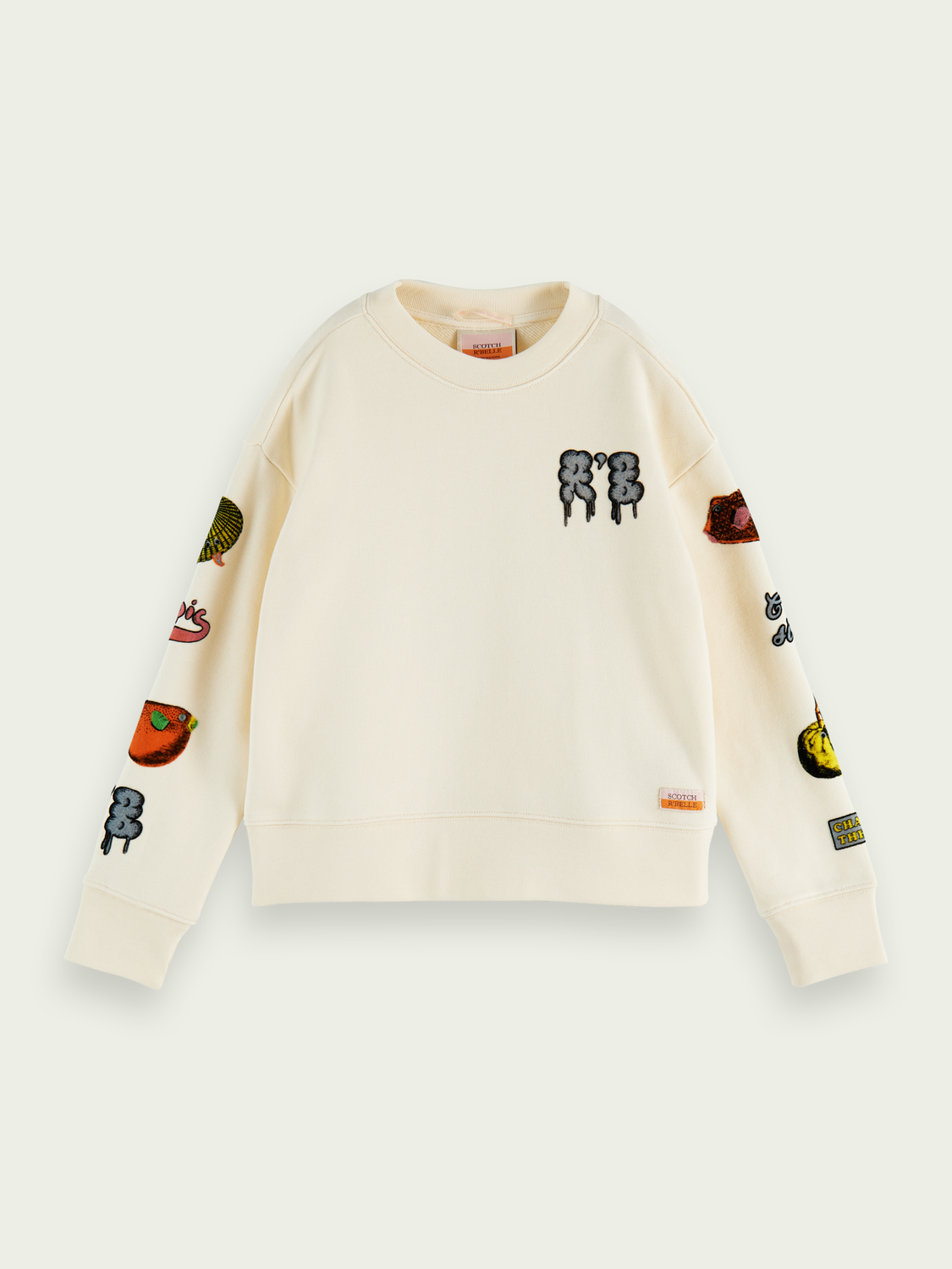 Kinderen Relaxed fit sweater met artwork en ronde hals