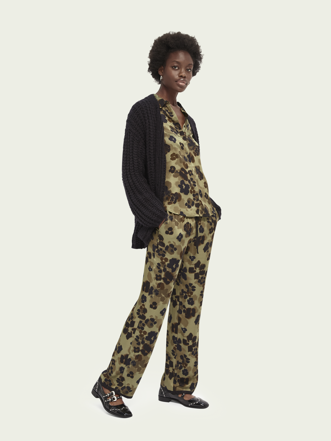 Women LENZING™ ECOVERO™ wide-leg trousers