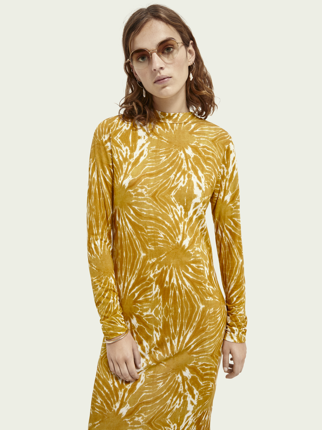 Women Printed long-sleeved dress