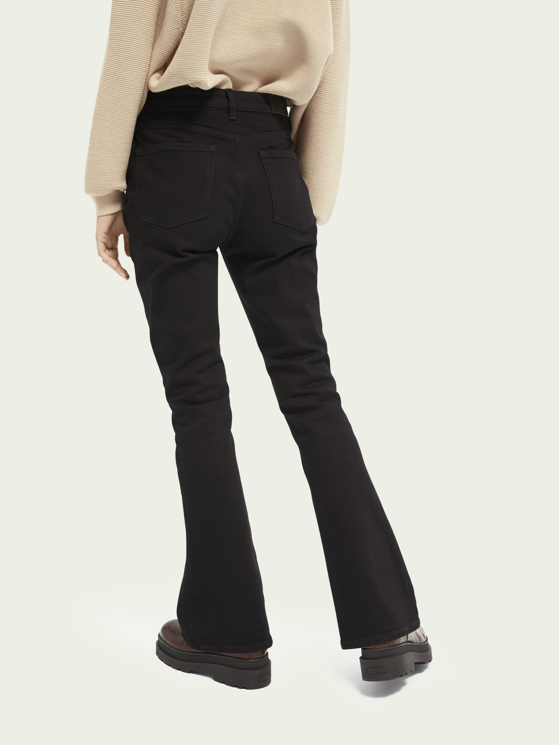 Women The Charm high-rise flared organic cotton jeans - Black Shadow