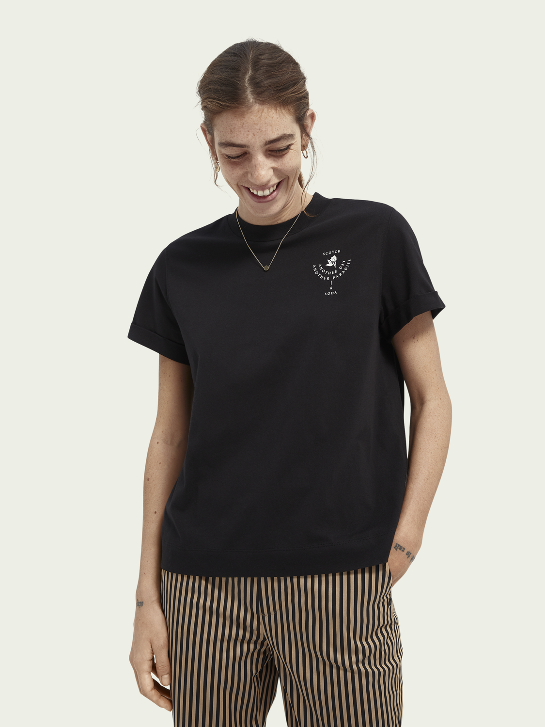 Dames Relaxed fit grafisch T-shirt