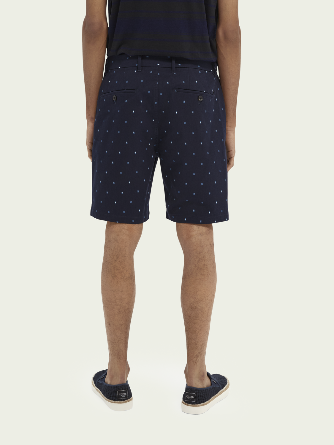 Men Stuart printed cotton-blend chino short