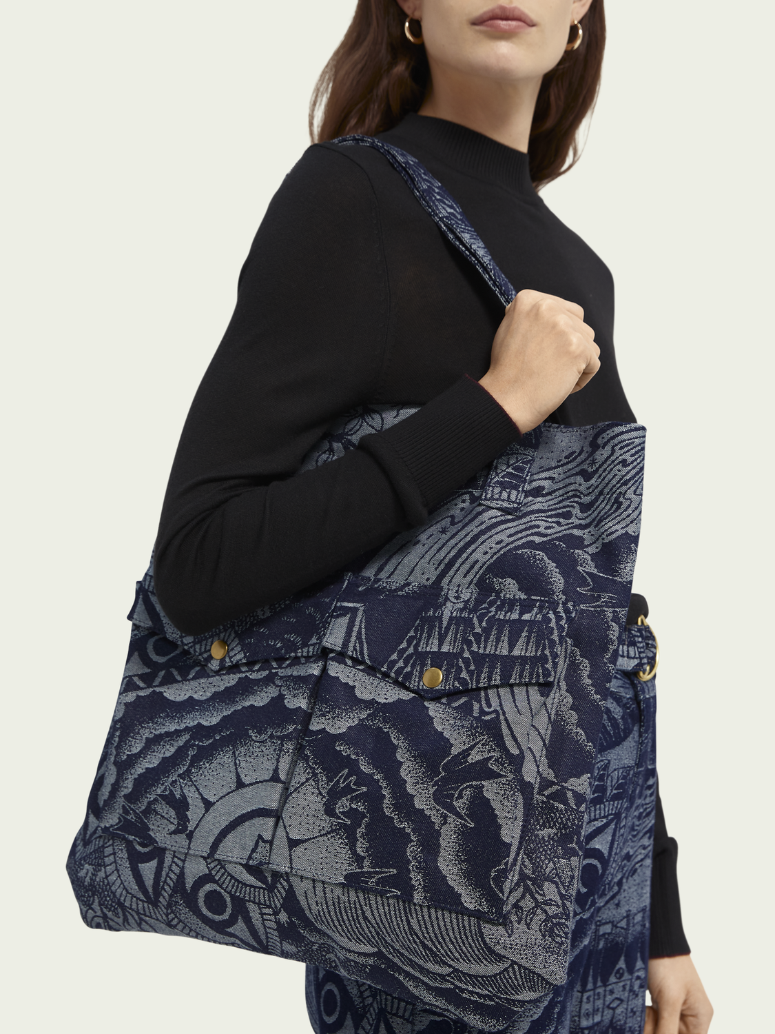 Women Jacquard artwork tote bag