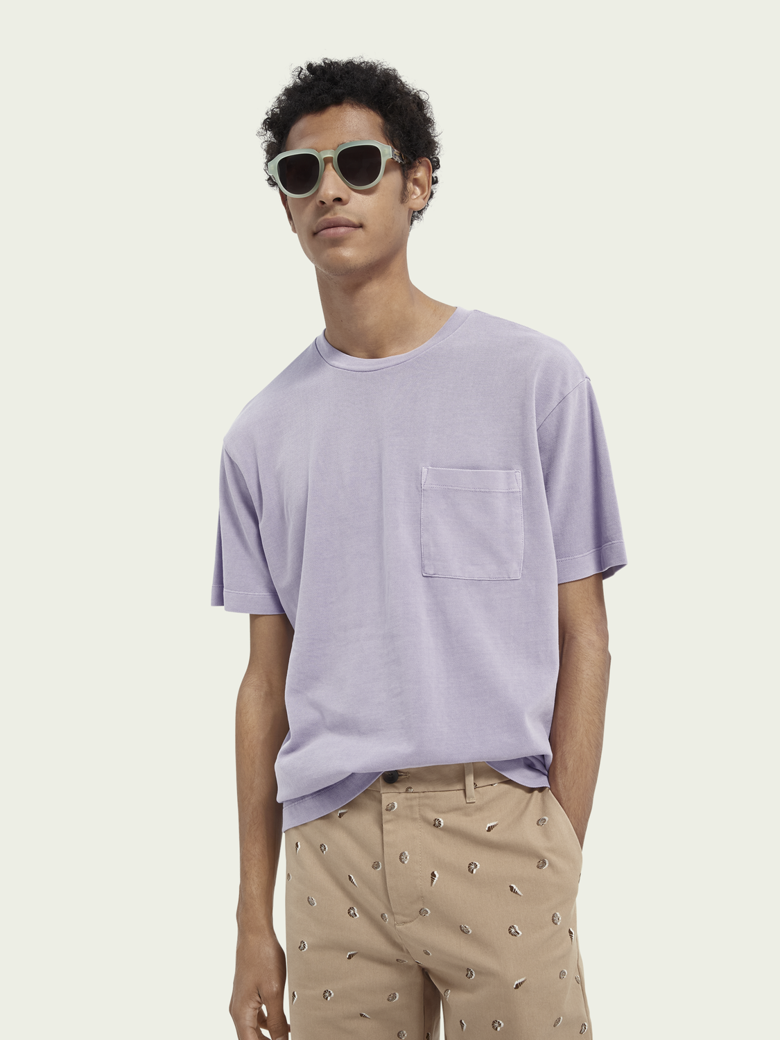 Uomo T-shirt relaxed fit in cotone biologico