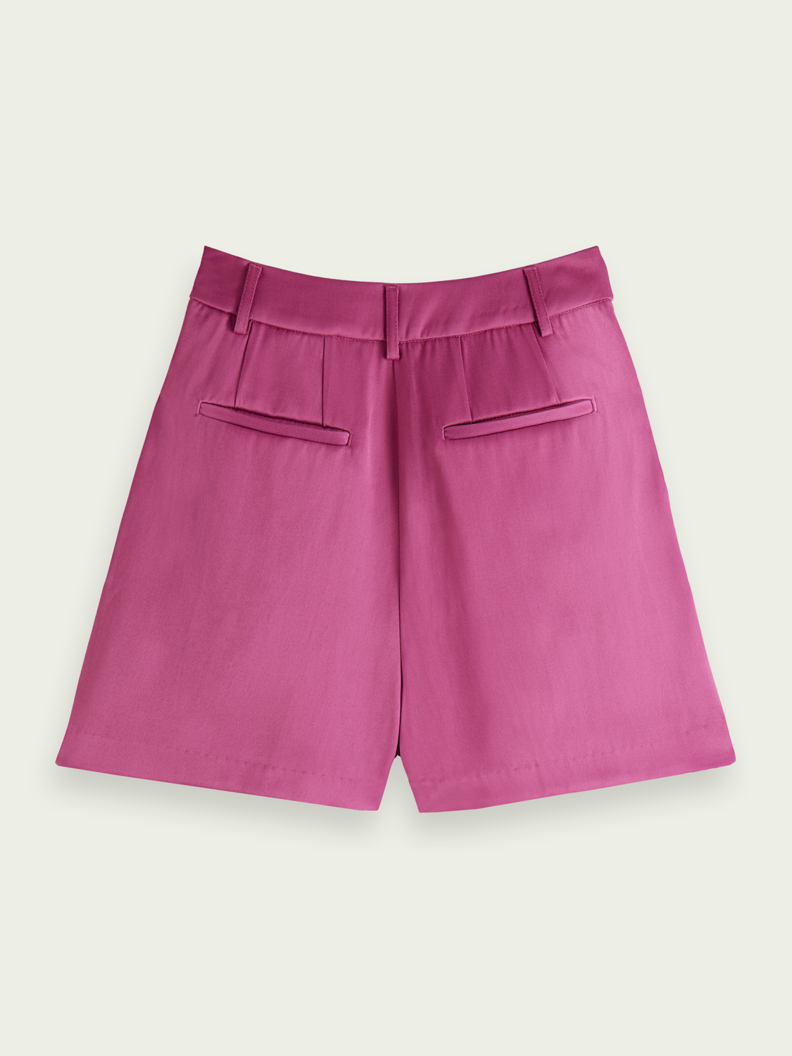 Women Shiny high-rise twill shorts