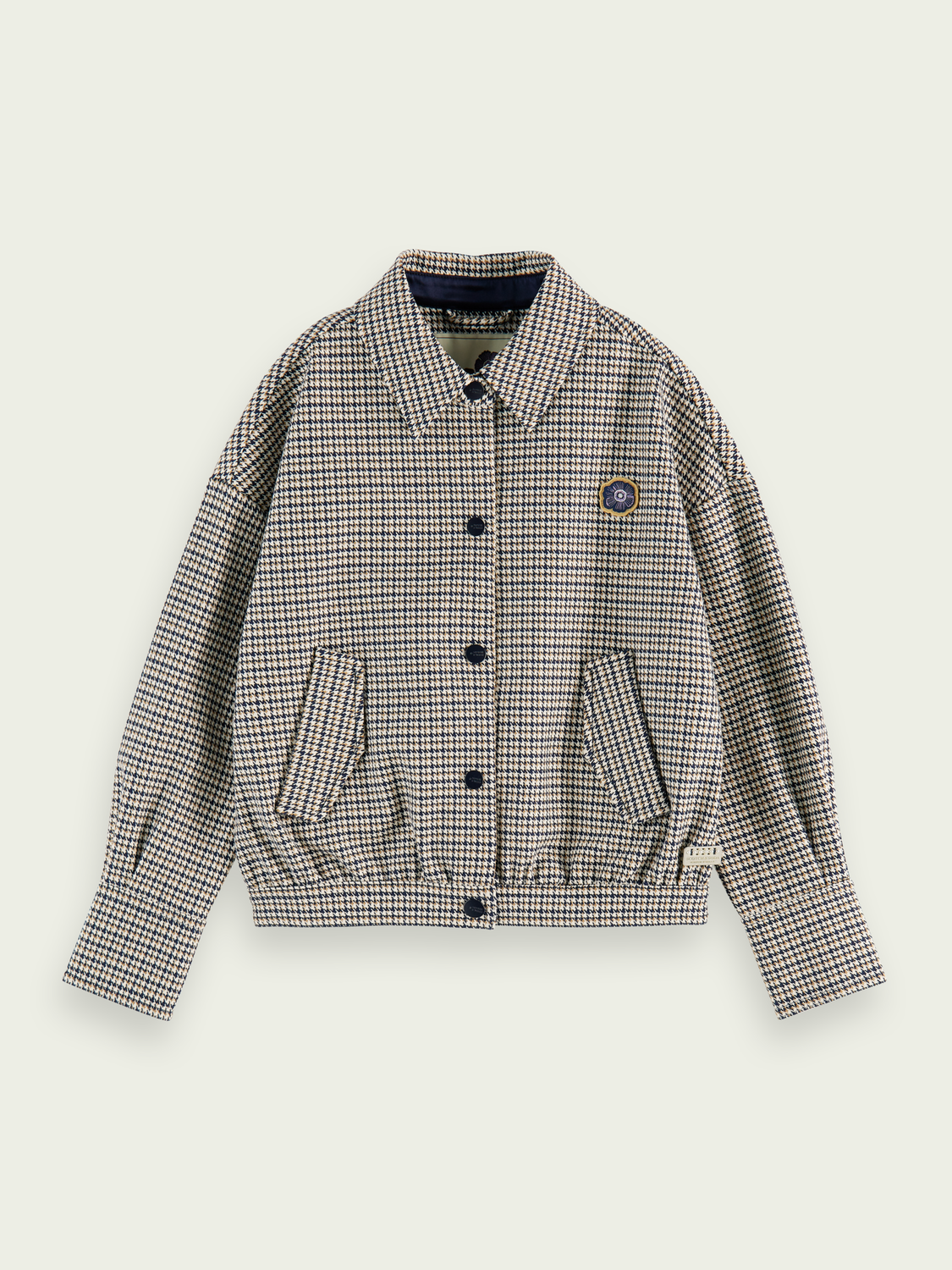 Kids Tailored houndstooth cotton jacket