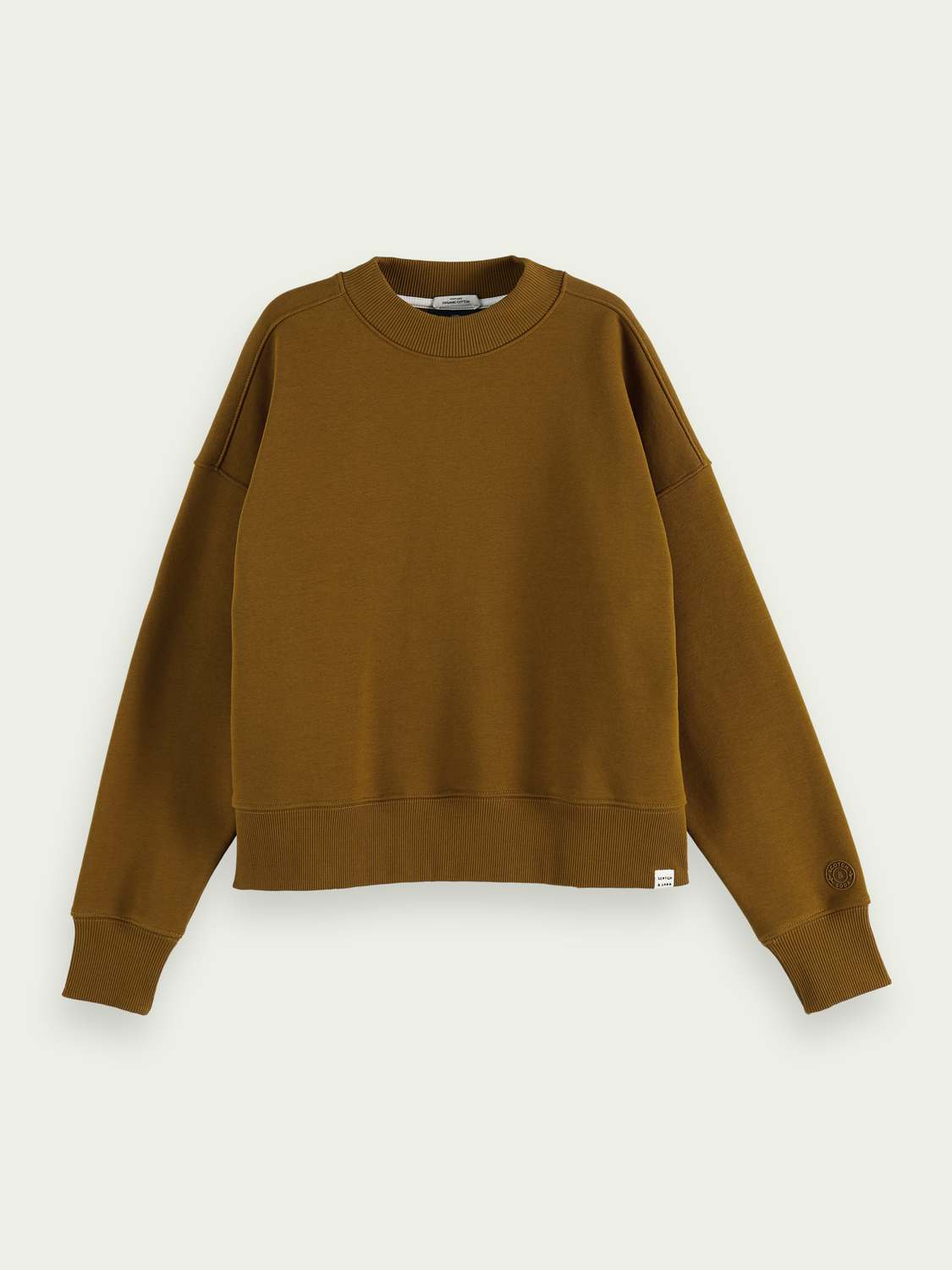 Women Crew-neck organic cotton-blend sweater