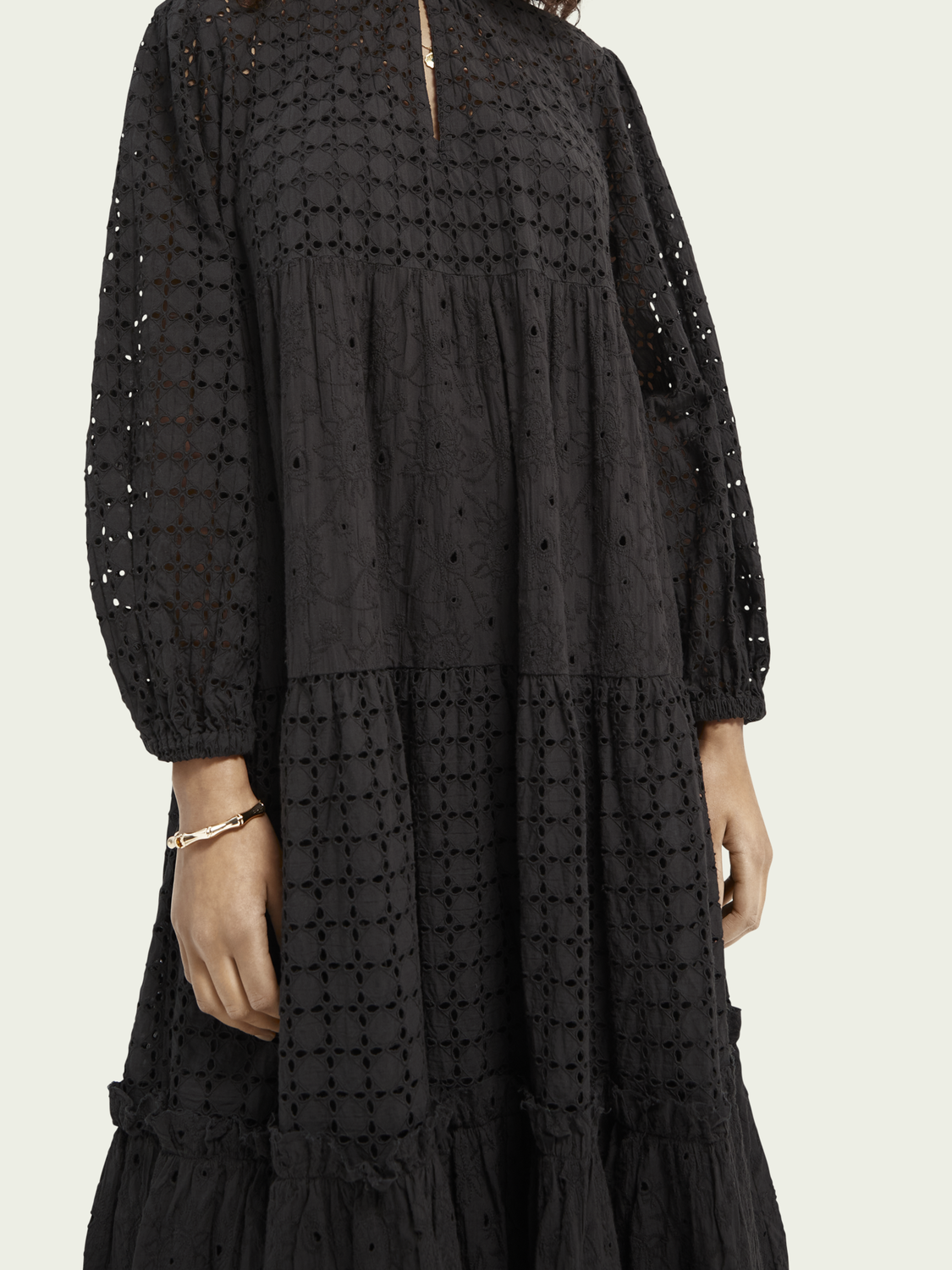Women Cotton dress in broderie anglaise