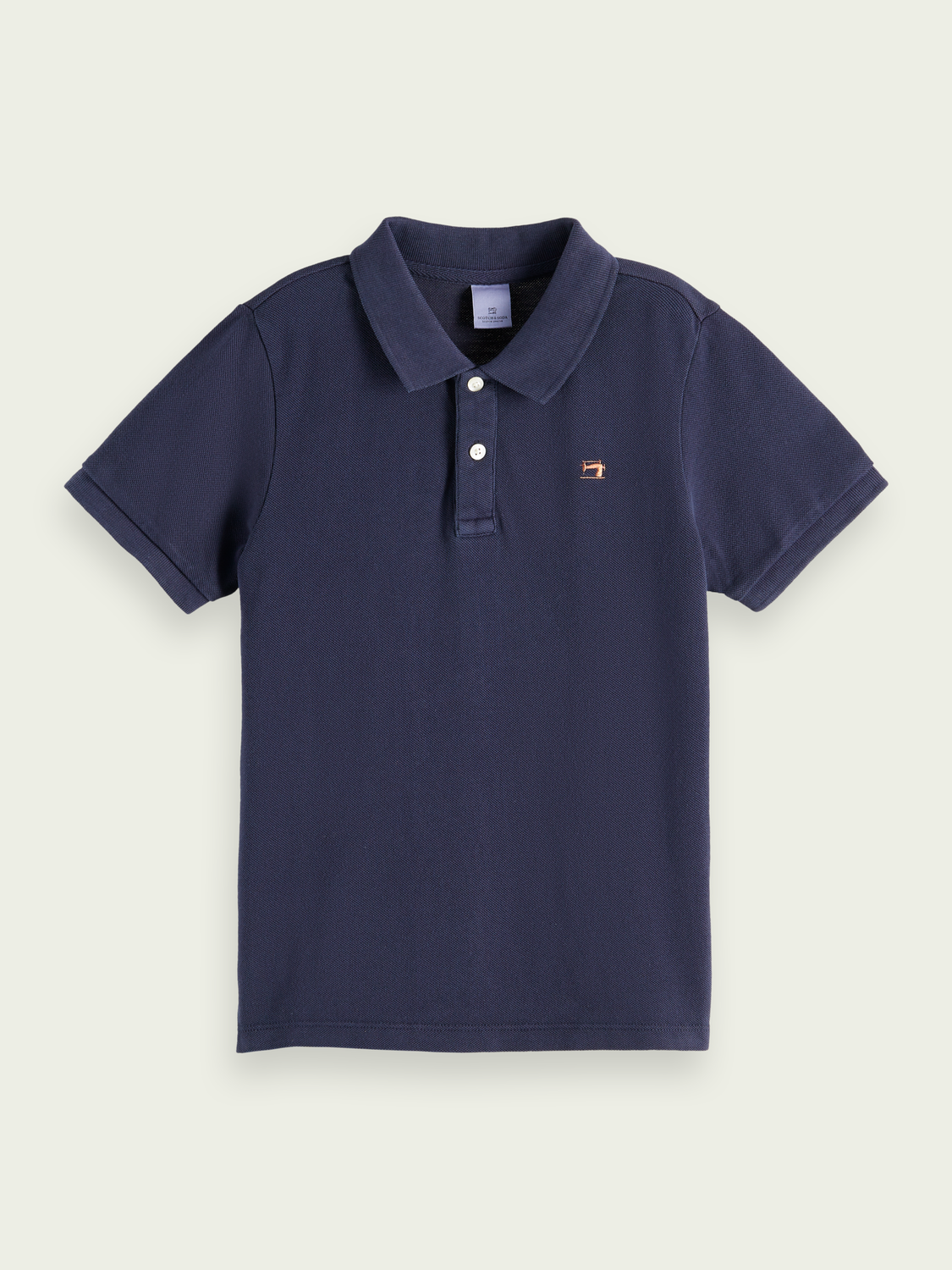 Kids Garment-dyed cotton polo