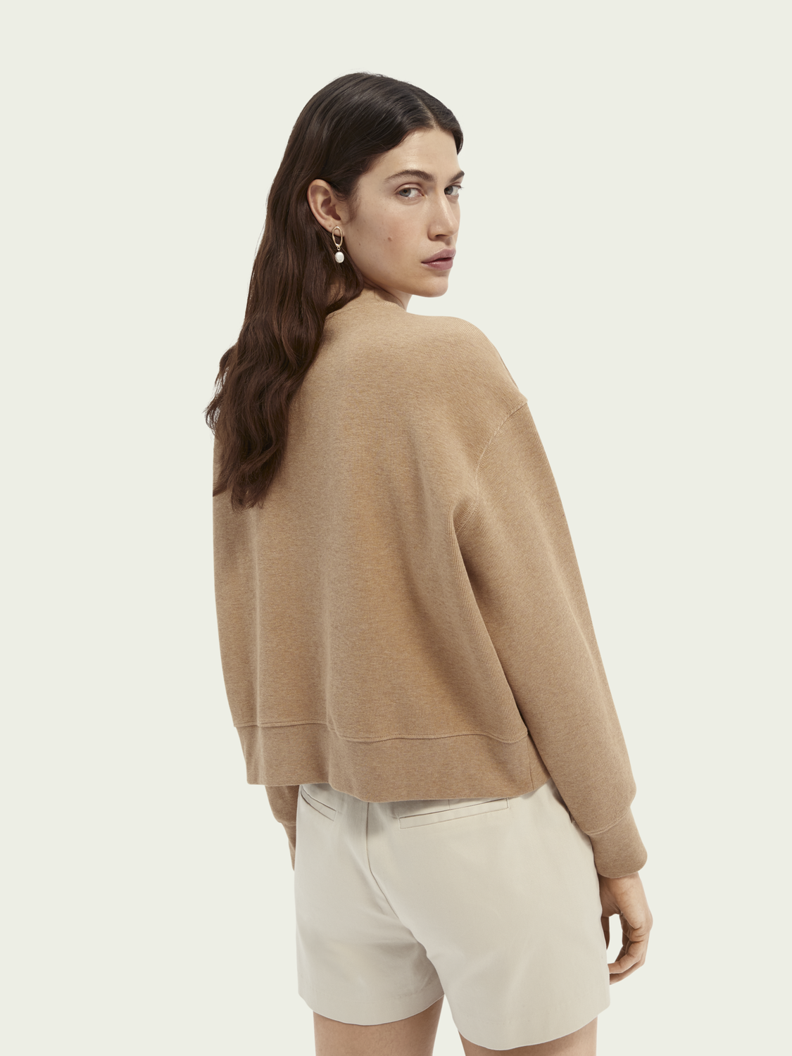 Women Relaxed fit high neck graphic sweater