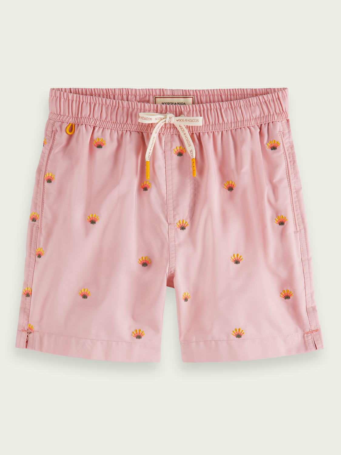 Kids Embroidered recycled polyester swim short