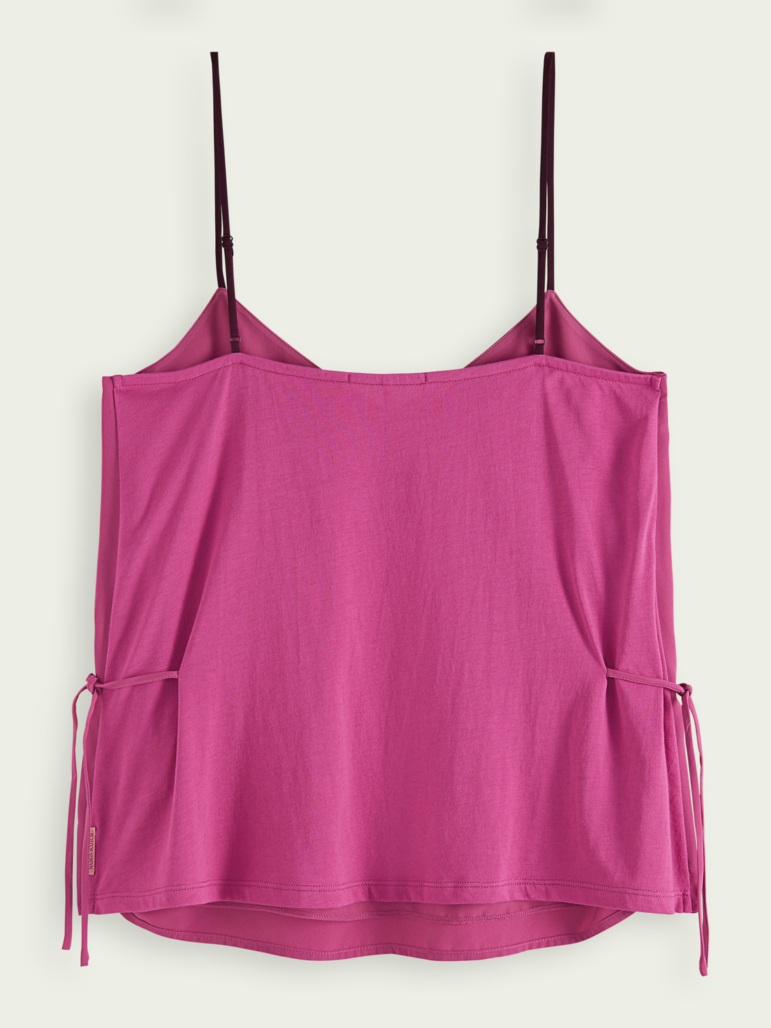 Women Jersey woven tank with tie detail