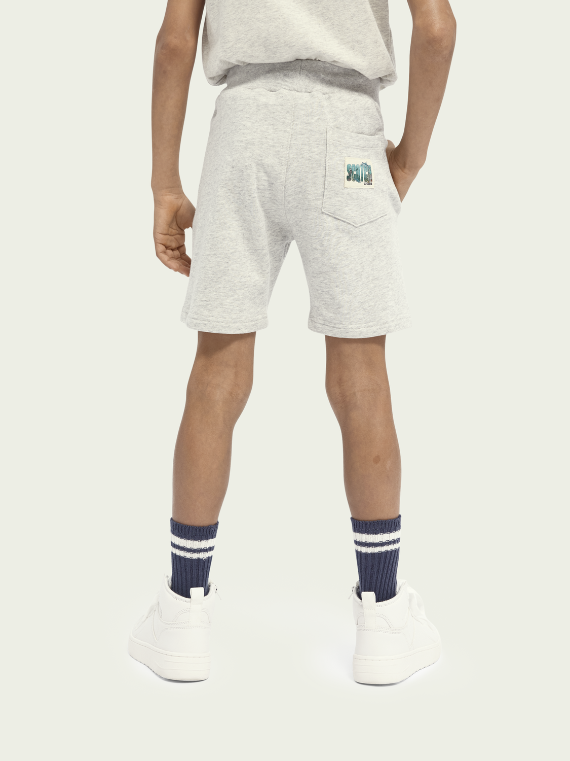 Kids Ocean-graphic cotton sweatshorts