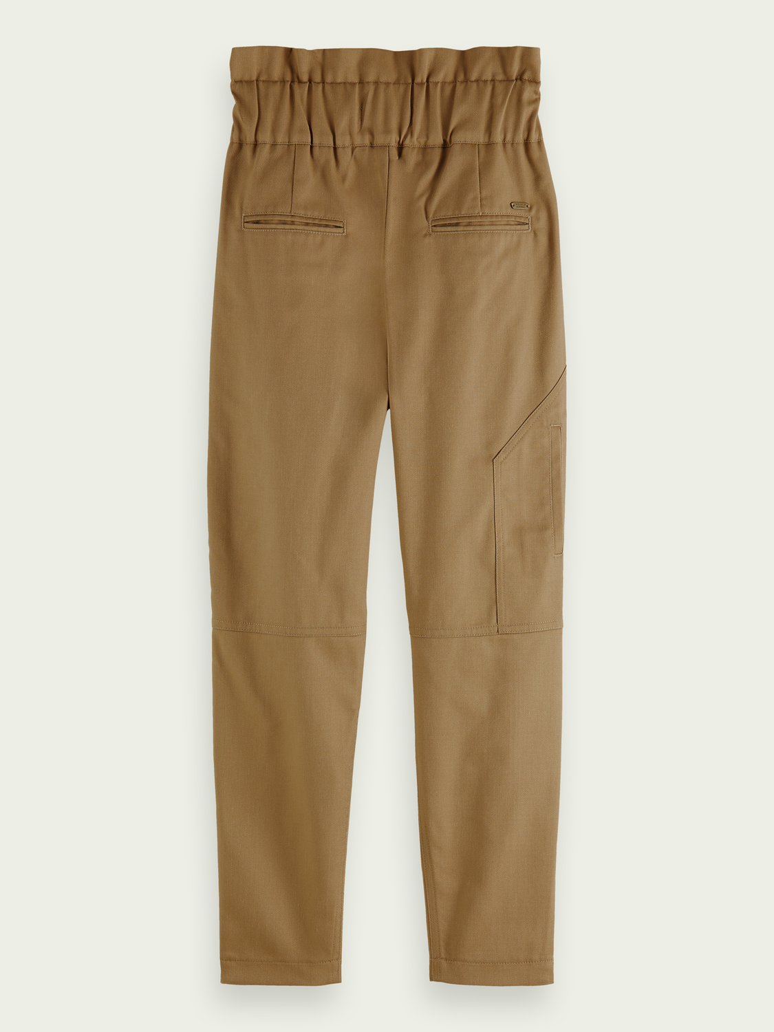 Kids Paper-bag twill cargo trousers