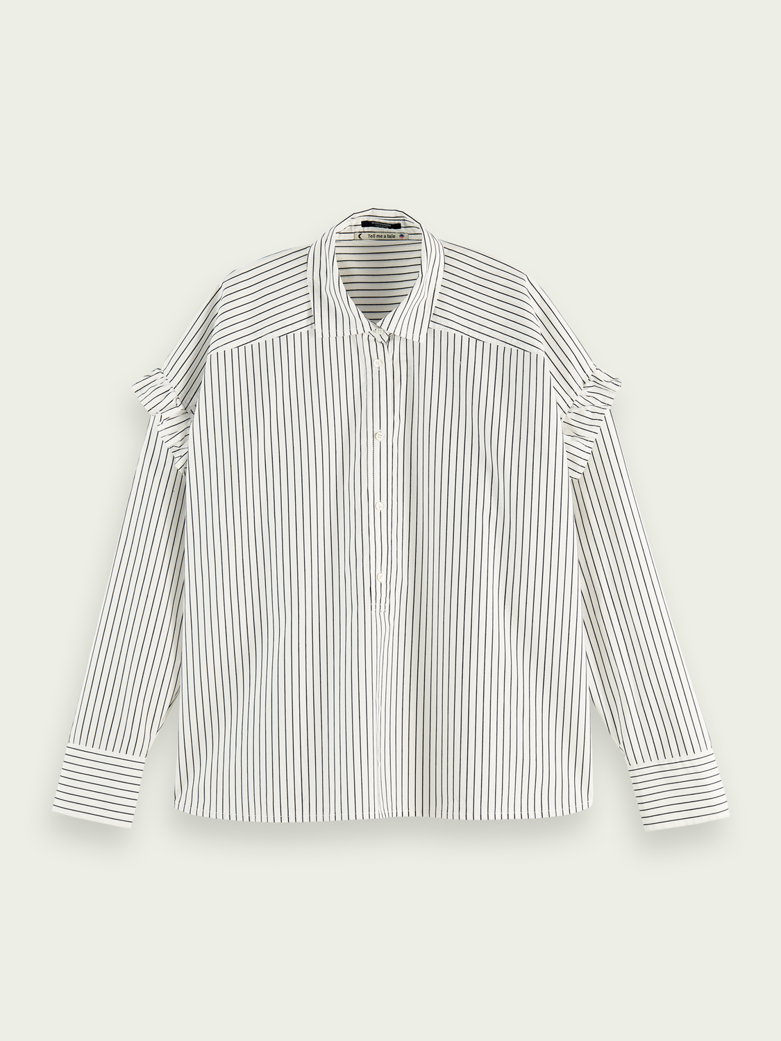 Women Oversized cotton-recycled polyester blend shirt