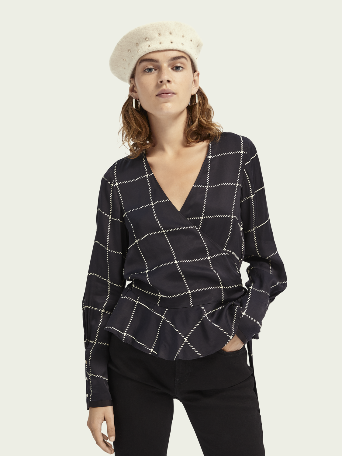 Women LENZING ECOVERO wrap top