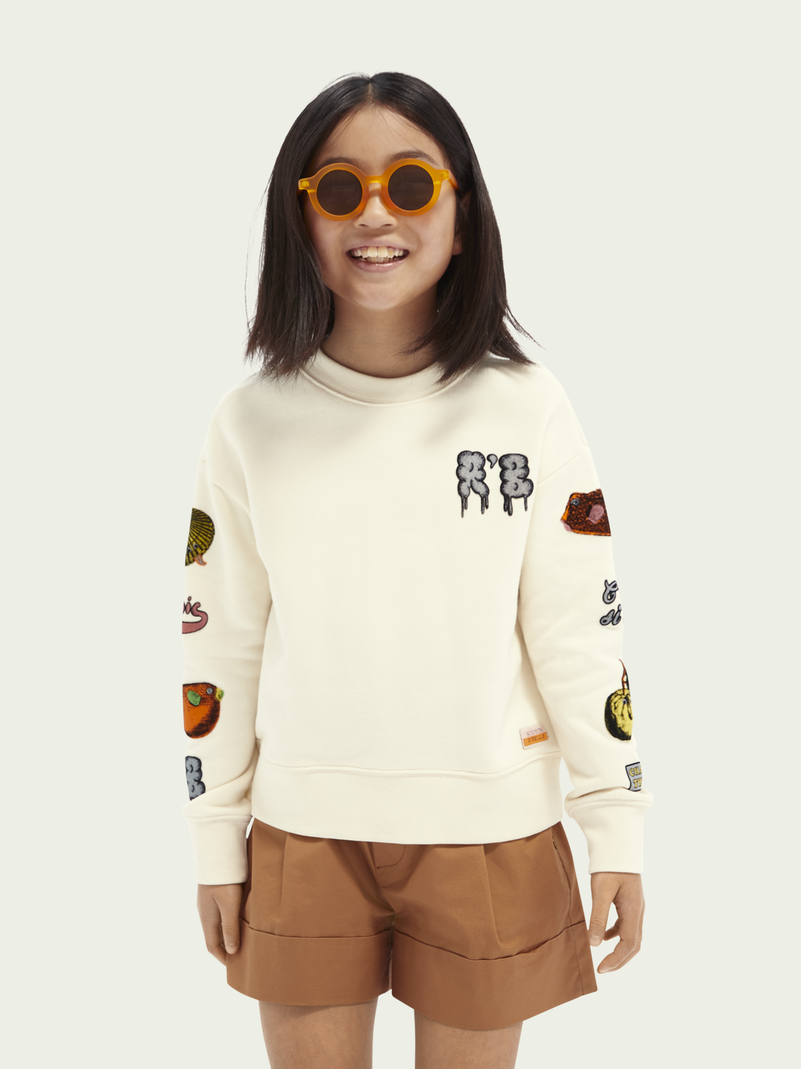Kids Relaxed-fit graphic cotton-blend sweatshirt