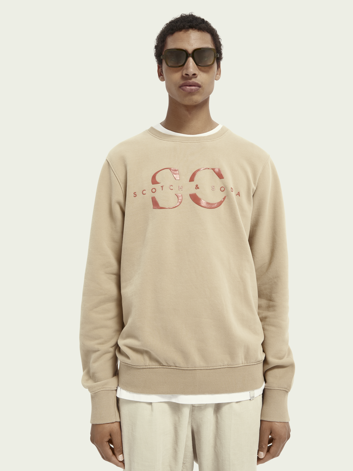 Men Logo crew-neck organic cotton sweater