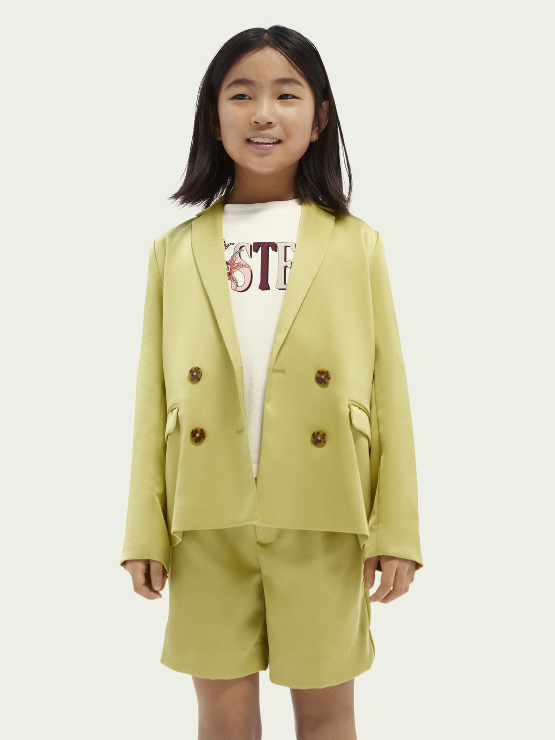 Kids Double-breasted drapey blazer
