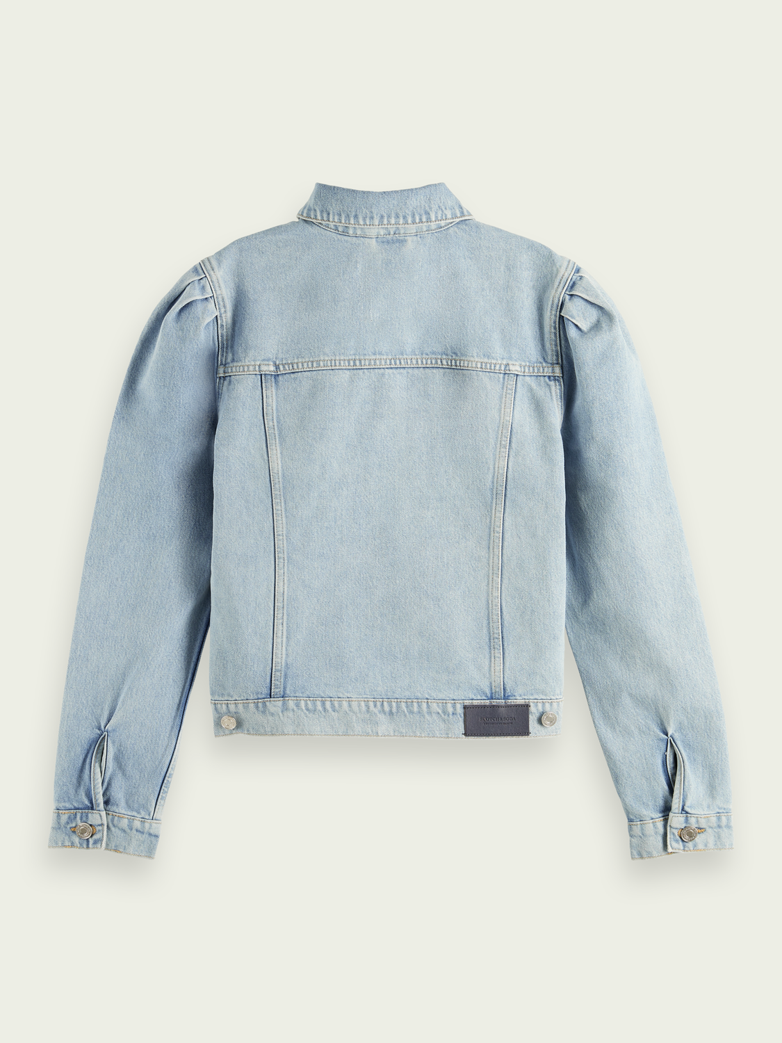 Women Organic cotton trucker jacket - Powder Blue