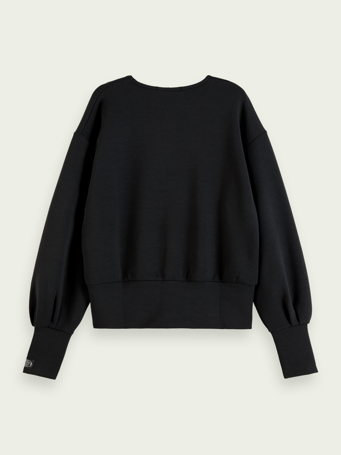 Femme Sweat-shirt doux à manches volumineuses