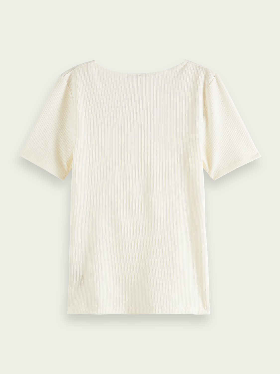 Women Ribbed square-neck T-shirt