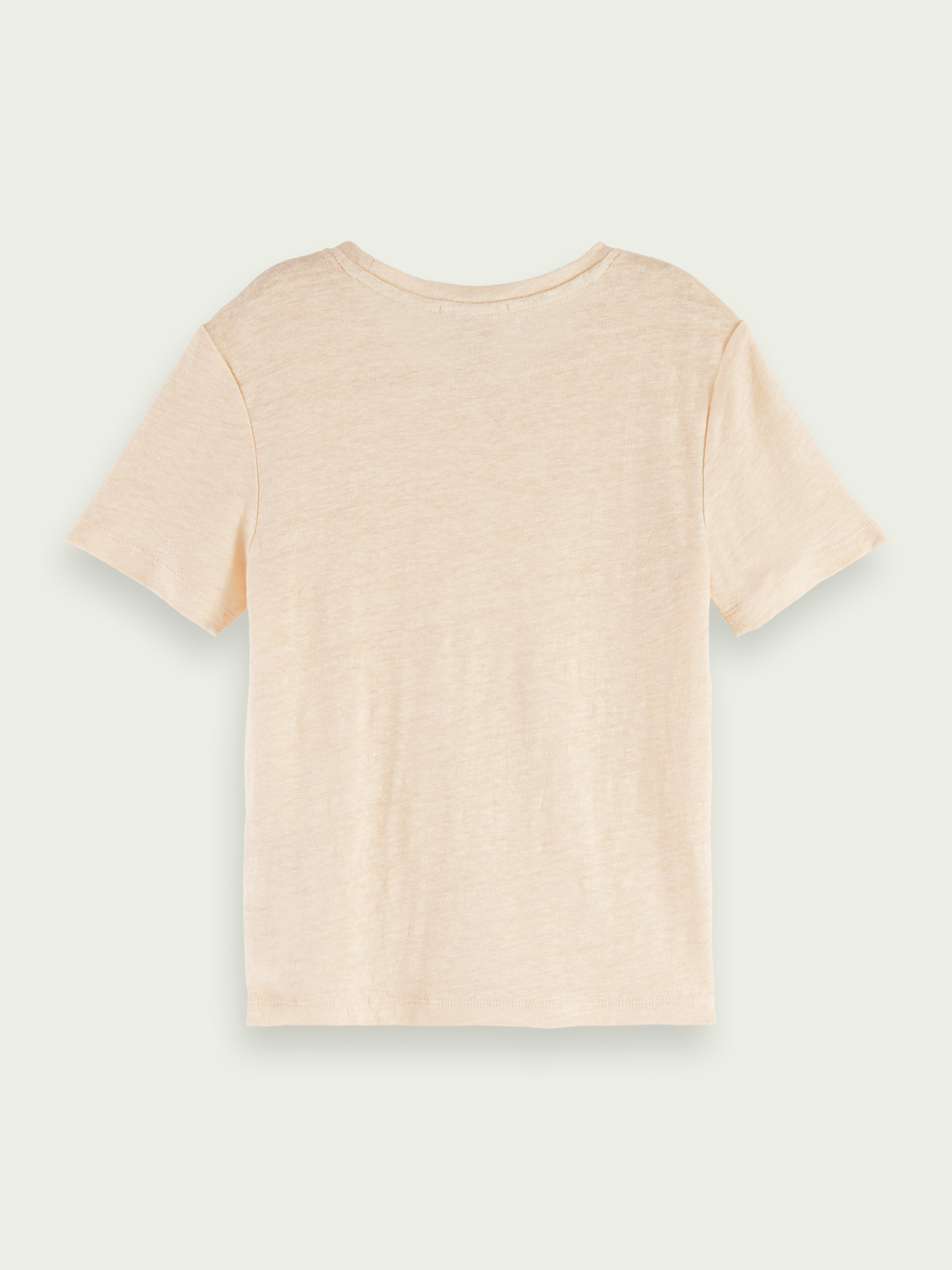 Kids Linen-cotton T-shirt - Pearl