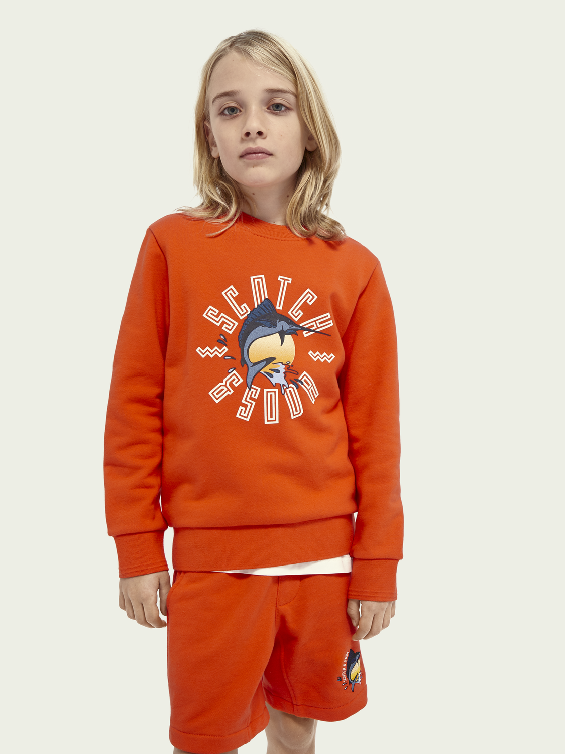 Kids Graphic organic cotton sweatshirt