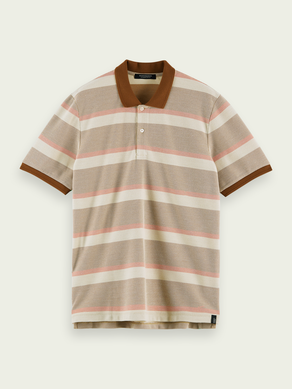 Men Striped piqué polo