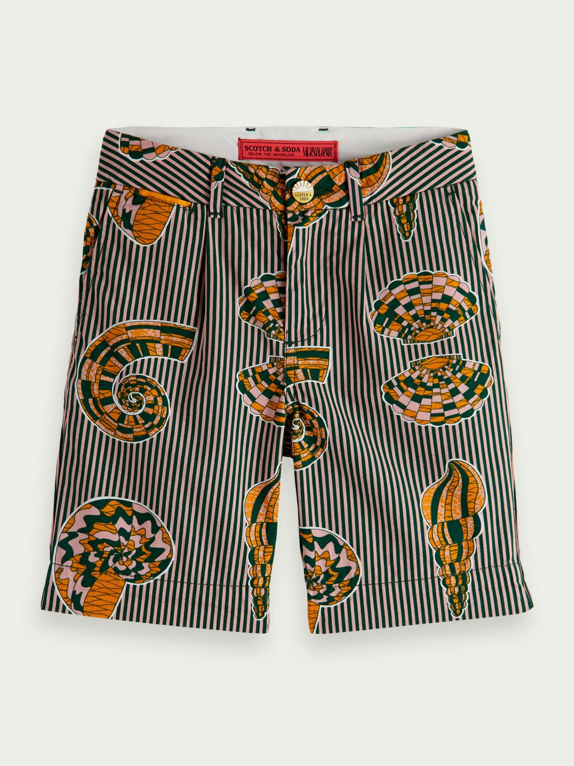 Kids Printed cotton chino shorts
