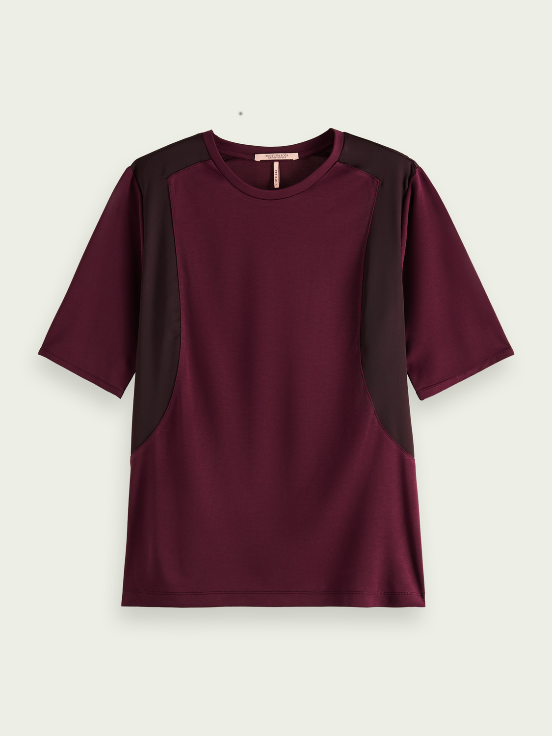 Women Loose fit woven mix T-shirt