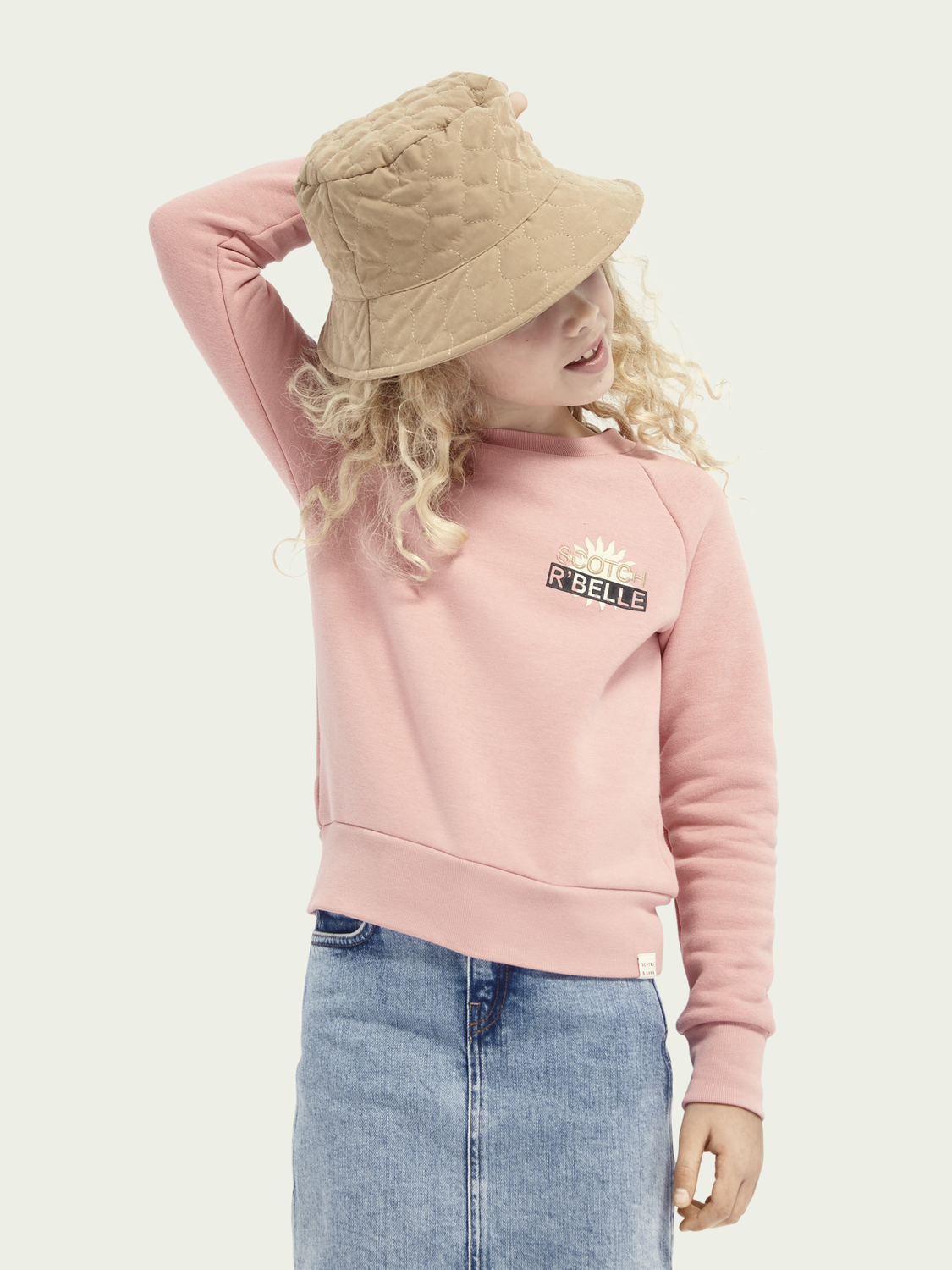 Kids Cotton-blend sweater with logo artwork