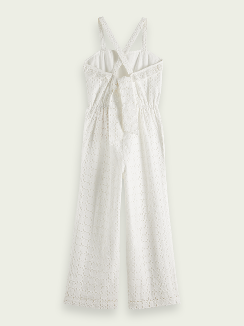 Scotch & Soda Jumpsuit van broderie anglaise