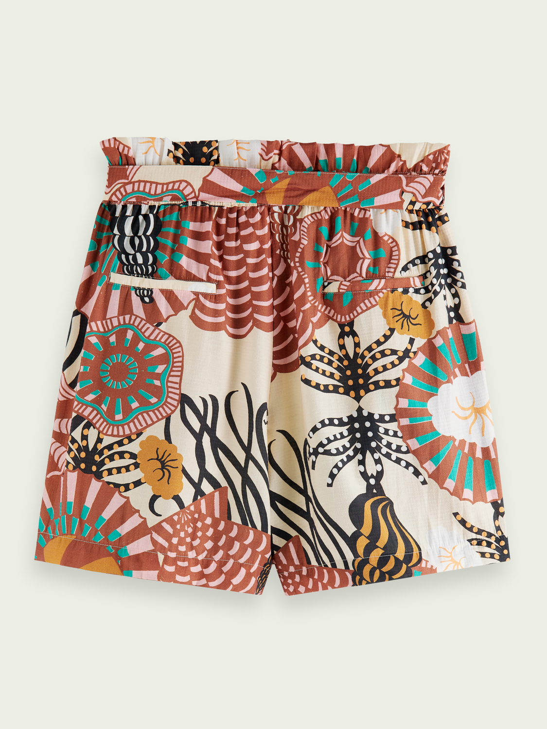 Women Printed high-rise shorts