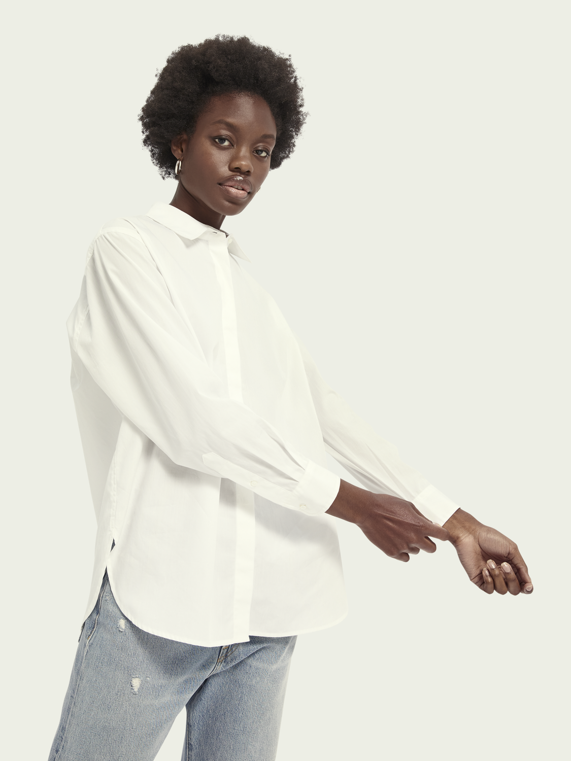 Women Oversized cotton shirt