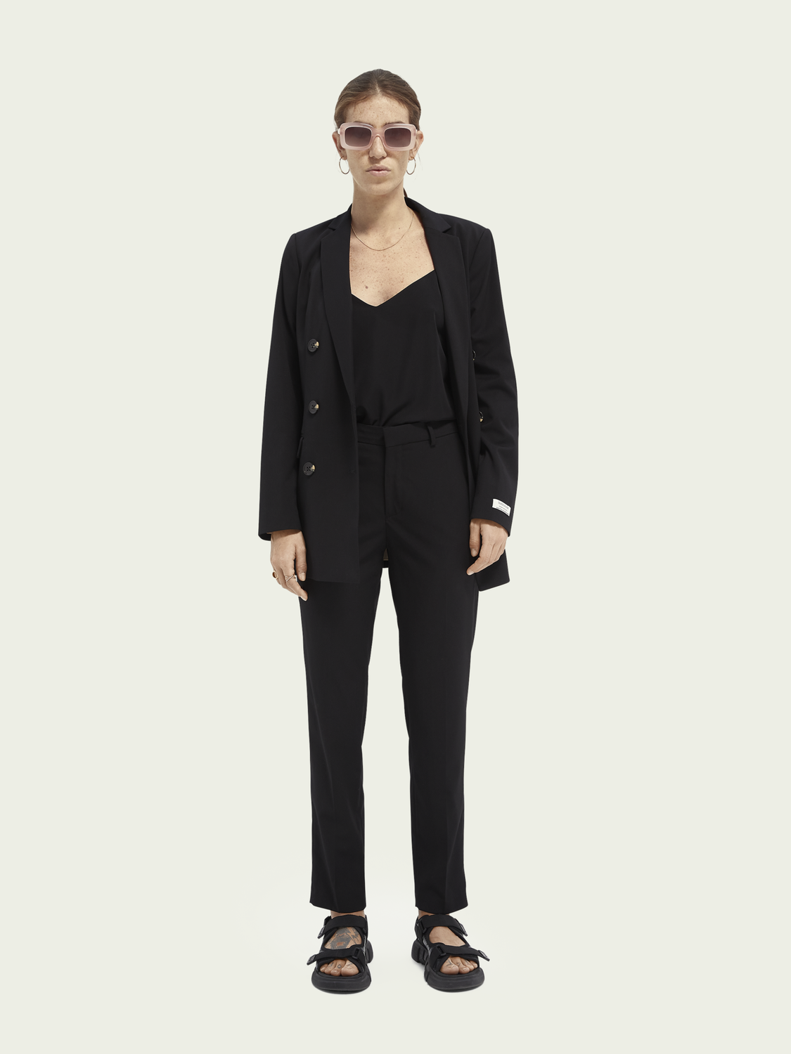 Women Lowry slim-fit mid-rise trousers