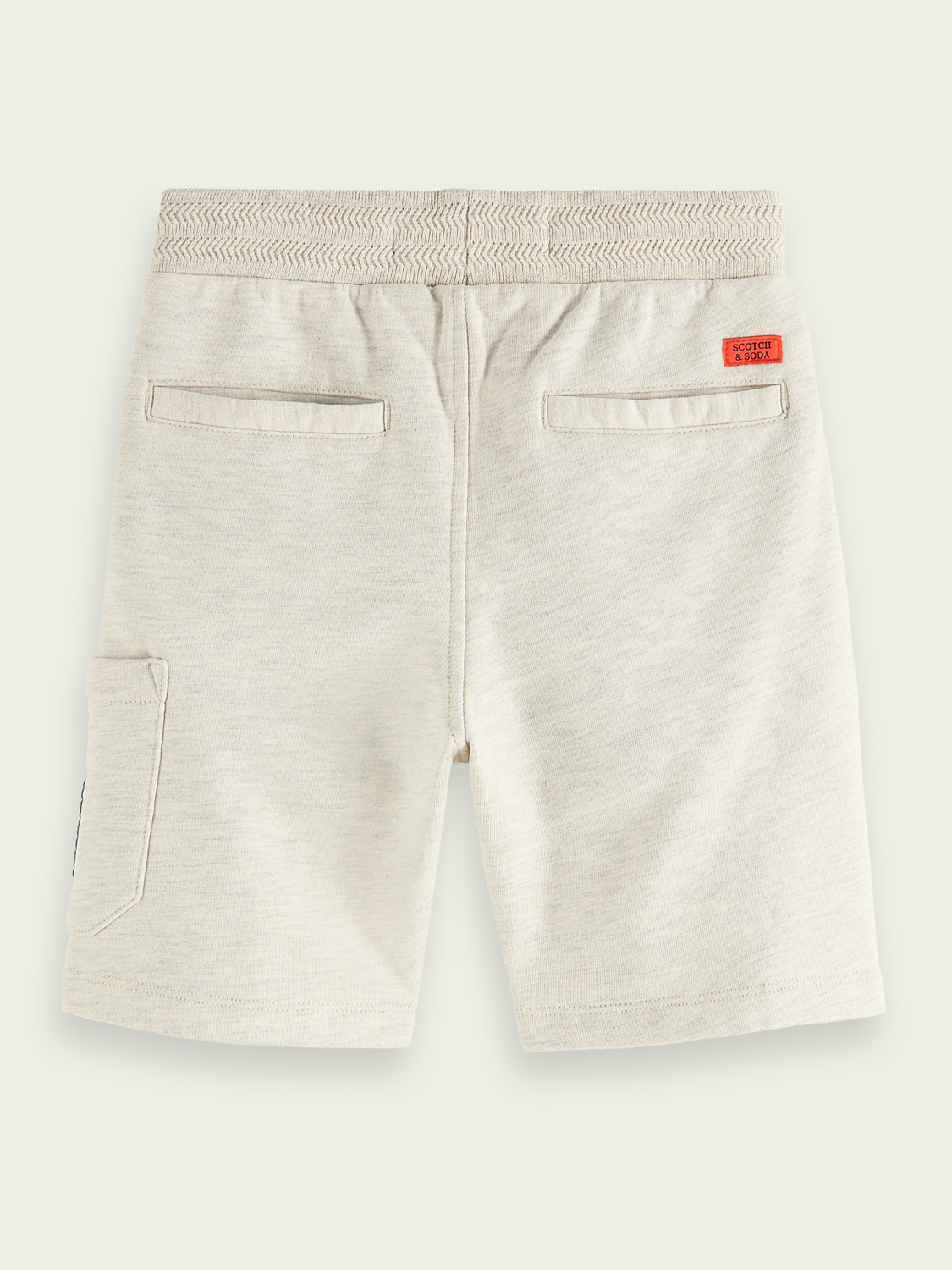 Kids Label detail cotton sweat shorts