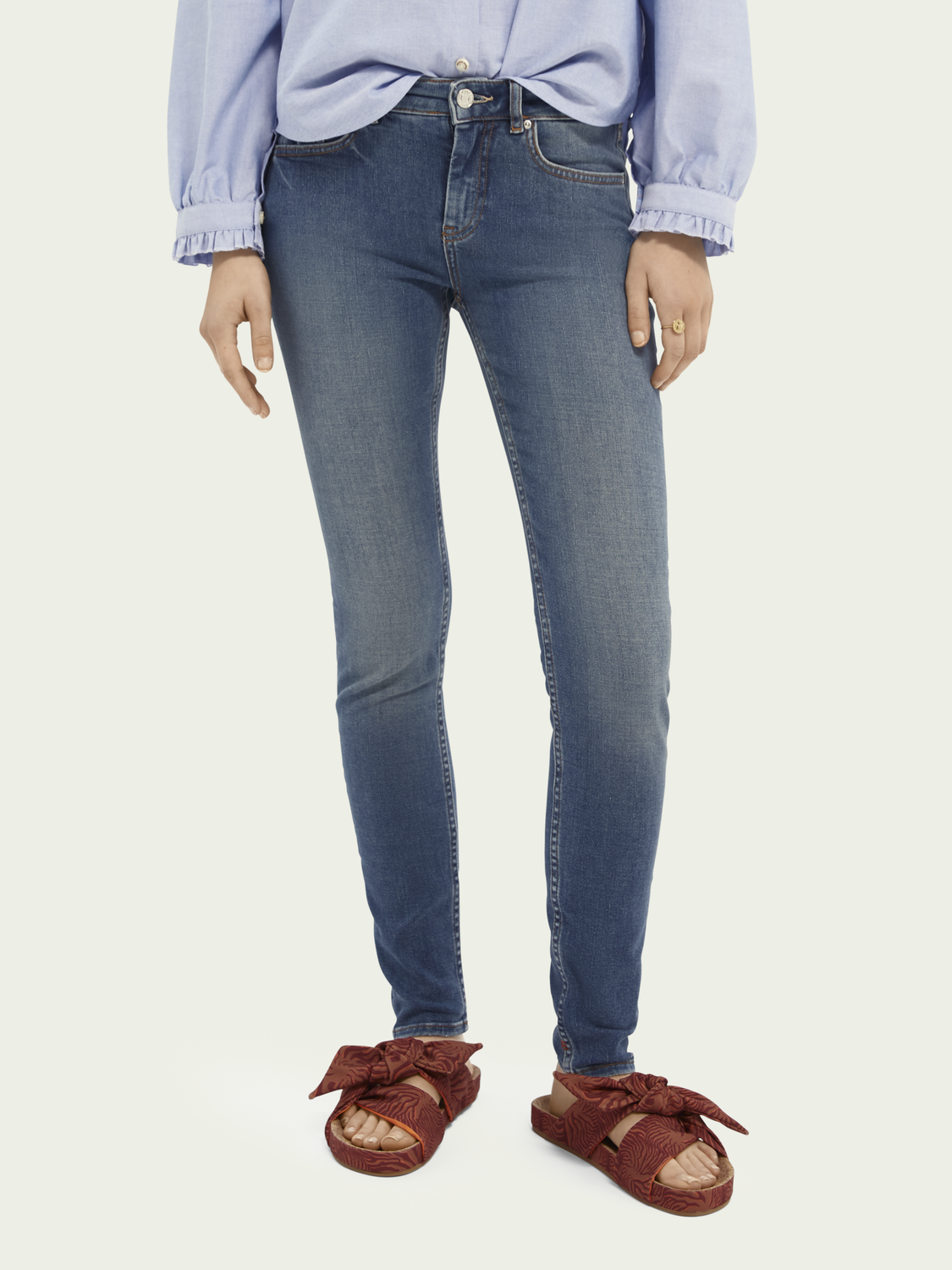 Dames La Bohemienne mid rise skinny jeans – Remember Remember