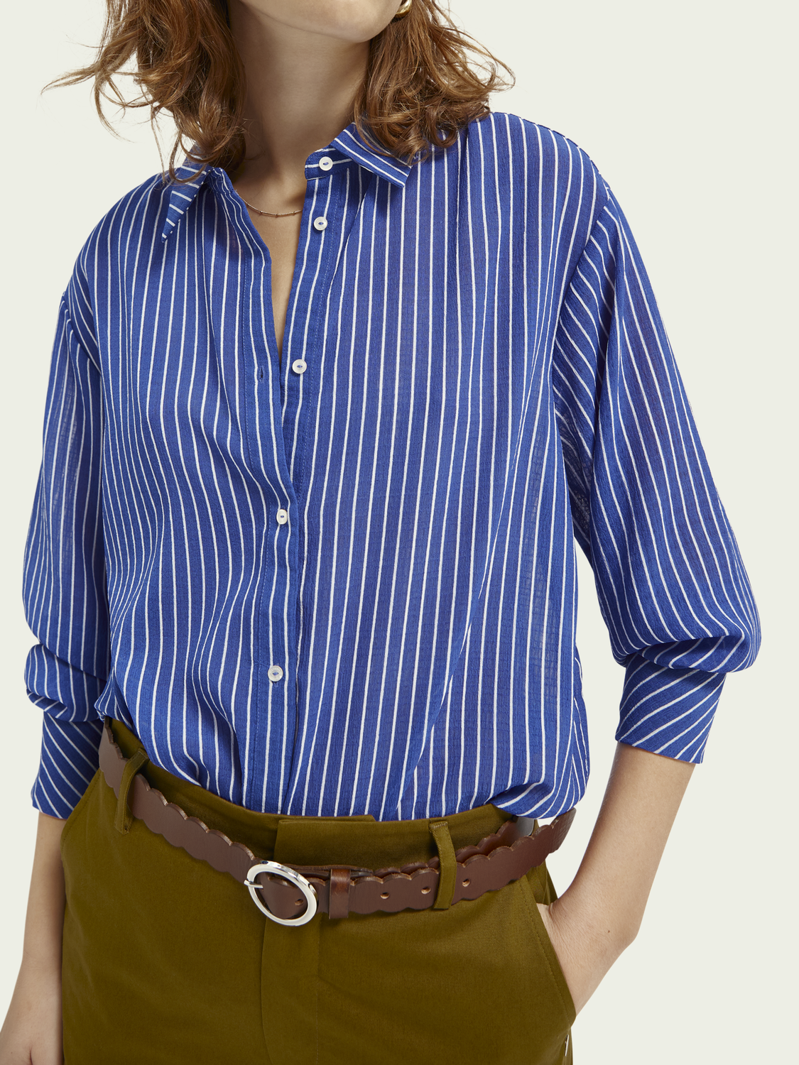 Damen Gestreiftes Shirt mit Loose Fit