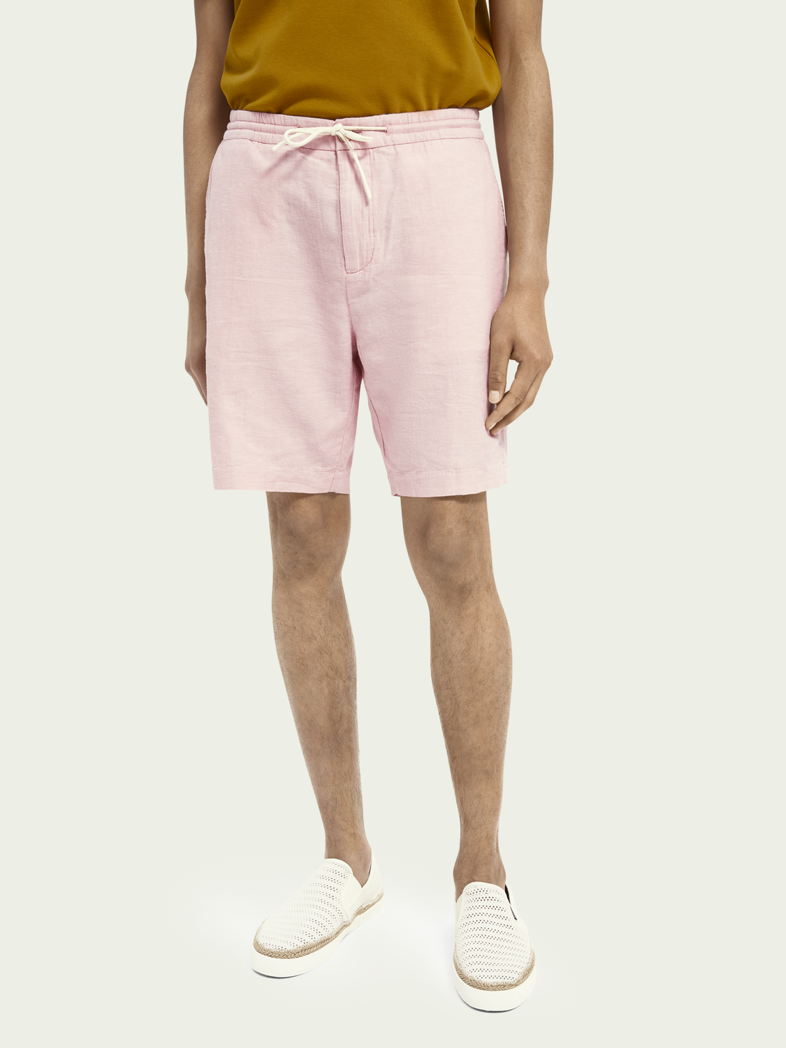 Men Fave linen & organic cotton-blend short