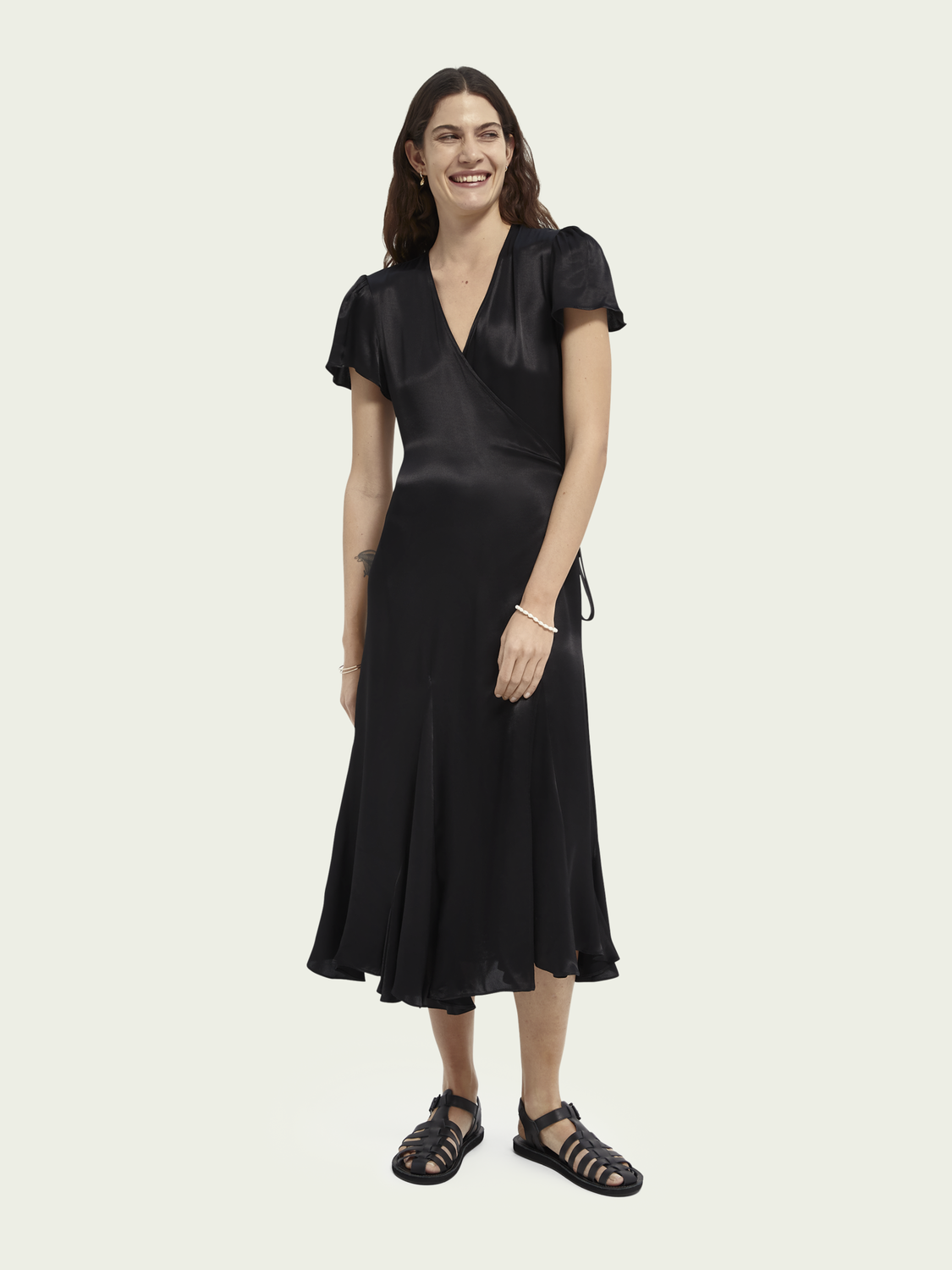 Women Midi wrap dress