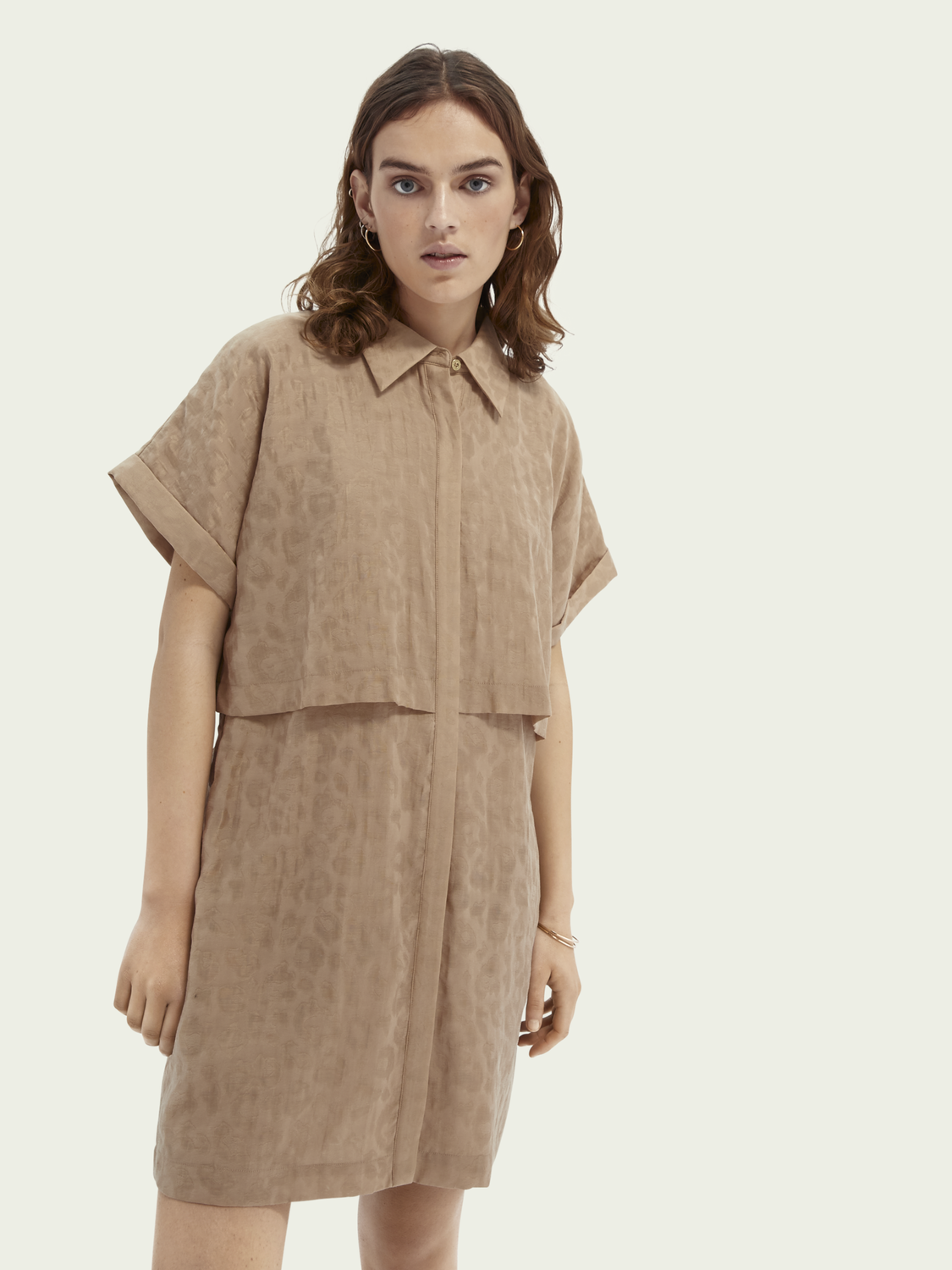 Women Animal print TENCEL™ blend shirt dress