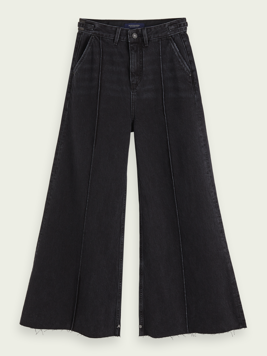Women High-rise extra-wide leg jeans – Black Butter