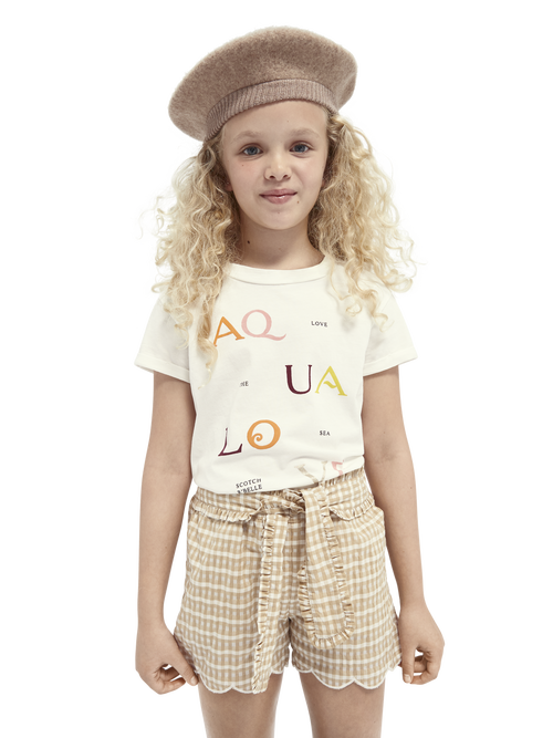 Scotch /& Soda Girls Oversized Washed Ss Tee with Knot T-Shirt