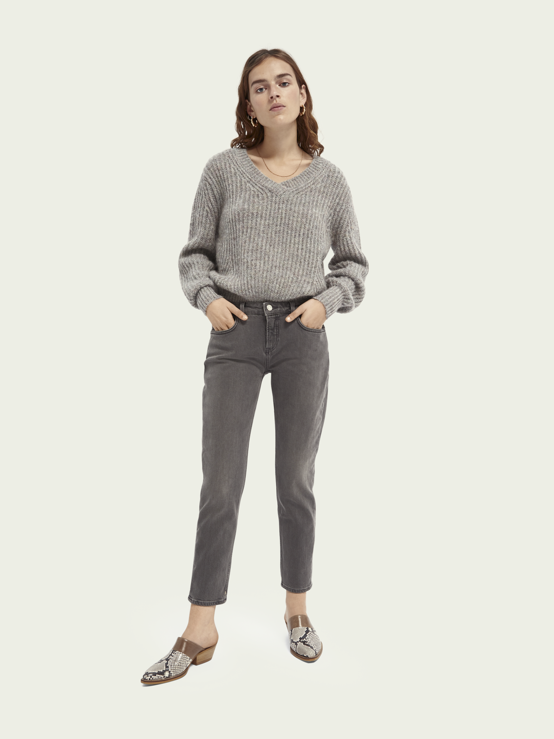 Women The Keeper mid-rise slim-leg jeans - Sugar Grey